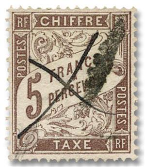n°27 obl. - Timbre FRANCE Taxe