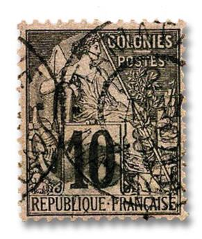 n°1 obl. - Timbre MADAGASCAR Poste