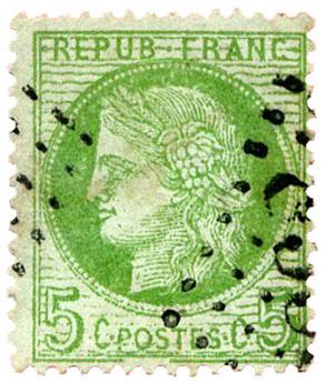 n°53b obl. - Timbre FRANCE Poste