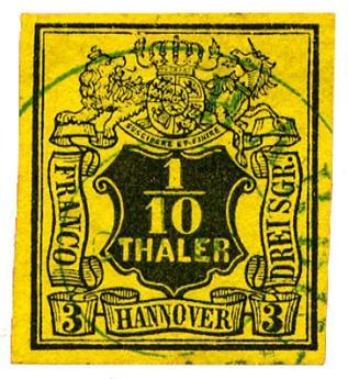 n°5 obl. TB - Timbre ALLEMAGNE HANOVRE Poste