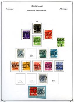 ALLEMAGNE (DIFFERENTES ZONES) : Collection entre 1945 et 1951 obl.