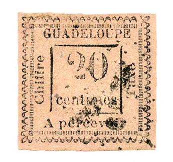 n°9 obl. - Timbre GUADELOUPE Taxe