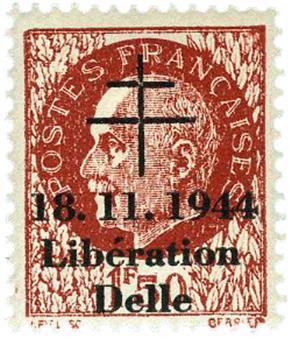 n° 9** (MAYER) - Timbre France Libération (DELLE)