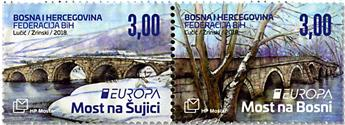 n° 439/440 - Timbre HERCEG-BOSNA Poste (EUROPA)