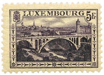 n°134** - Timbre LUXEMBOURG  Poste