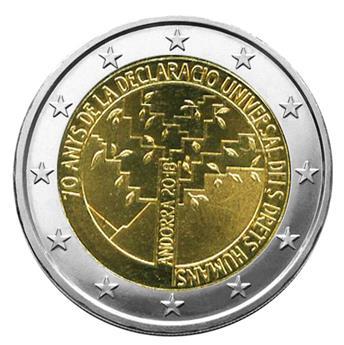 BU : 2 EURO COMMEMORATIVE 2018 : ANDORRE (70 ans Déclaration Universelle Droits de l´Homme)