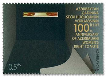 n° 1109 - Timbre AZERBAIDJAN Poste