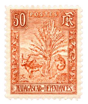 n°73* - Timbre MADAGASCAR Poste