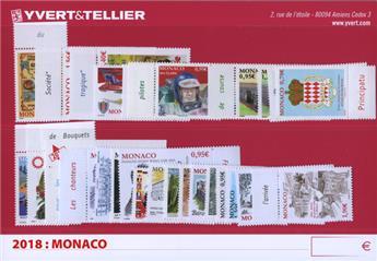 n° 3117/3163 - Timbre Monaco Année complète (2018)