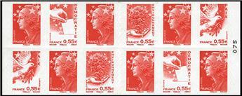 n° 1516 -  Selo França Carnets Diversos