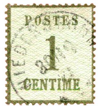 n°1 obl. TB - Timbre FRANCE Alsace Lorraine