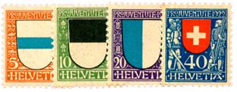 n°188/191** - Timbre SUISSE  Poste
