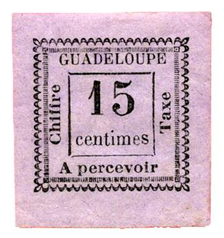 n°8* - Timbre GUADELOUPE Taxe