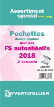 Assortiment de pochettes (double soudure) : 2018-2e sem. (Jeux Autoadhésifs)
