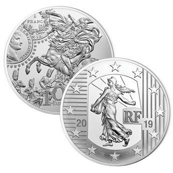 BE : 10 EUROS ARGENT - FRANCE 2019 - FRANC GERMINAL