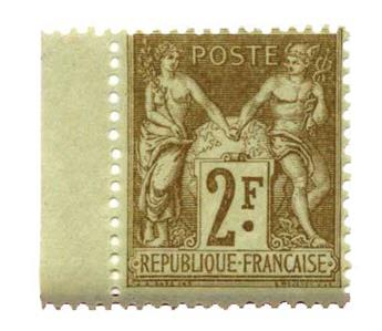n°105** - Timbre France Poste