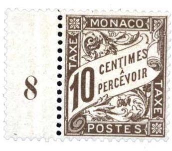 n°4* - Timbre Monaco Taxe