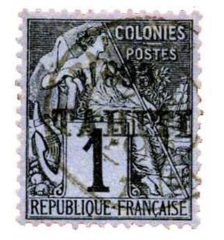 n°19 obl. TB - Timbre Tahiti Poste