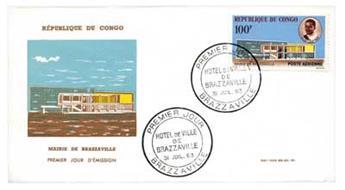 n°11 obl. sur enveloppe 1er jour du 31.08.1963. - Timbre Congo Poste aérienne