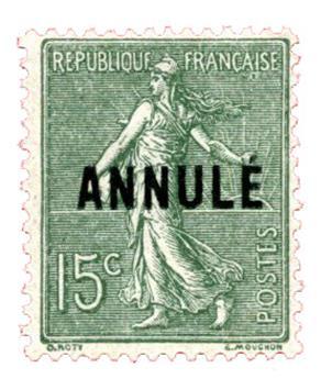 n°130-CI2** - Timbre FRANCE Cours D´Instruction