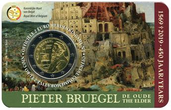 2 EURO COMMEMORATIVE 2019 : BELGIQUE - 450 ans de la mort de Pieter Brughel (Version flamande)