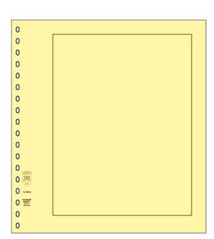 Feuille neutre Bristol jaune - avec filet d´encadrement (x10) - LINDNER (Hors cat. /802b)