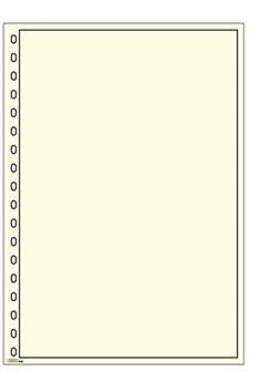 Feuille neutre - Bristol blanc avec filet noir (Ref. 804) - LINDNER (Hors cat.)
