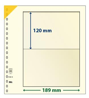 Feuille neutre LINDNER-T : 1 bande-802105 (x10)