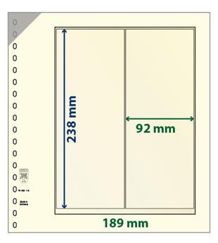 Feuille neutre LINDNER-T : bandes pour roulettes et carnets-802119 (x10)