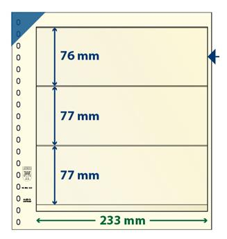 Feuille neutre LINDNER-T : 3 bandes-802322 (x10)