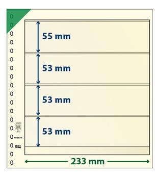 Feuille neutre LINDNER-T : 4 bandes-802412 (x10)