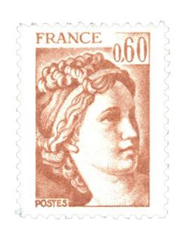 n° 2119b -  Selo França Correios