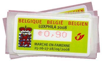 Belgique : Distributeurs série 71 (4 valeurs)