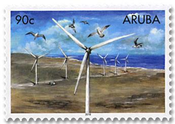 n° 1042/1046 - Timbre ARUBA Poste