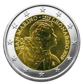 BU : 2 EURO COMMEMORATIVE 2019 : SAINT-MARIN (500 ans de la mort de Léonard de Vinci)