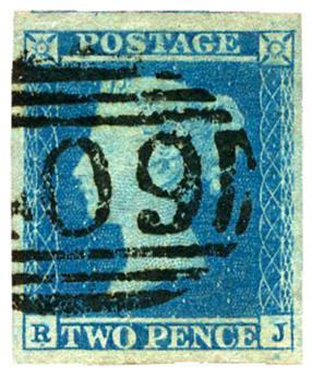 n°4 obl. TB - Timbre GRANDE-BRETAGNE  Poste