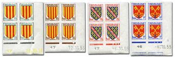 n° 1044/1047 (ND) - Timbre France Poste (Non dentelé en bloc de 4)