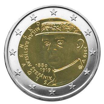 2 EURO COMMEMORATIVE 2019 : SLOVAQUIE (100e anniversaire de la mort de Milan Rastislav Stefánik)