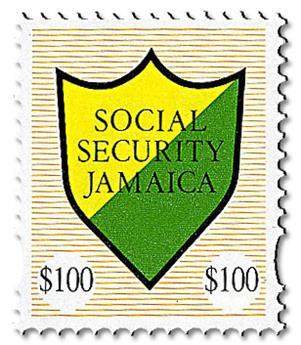 n° 12 - Timbre JAMAIQUE Timbres de sécurité sociale