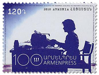 n° 934 - Timbre ARMENIE Poste