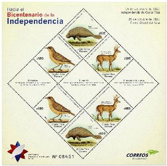 n° 69 - Timbre COSTA RICA Blocs et feuillets
