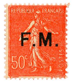 n°6c** - Timbre FRANCE Franchise Militaire
