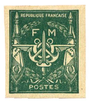 n°11a** ND - Timbre FRANCE Franchise Militaire