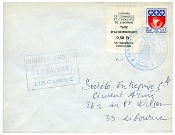 n°5 sur lettre - Timbre FRANCE Greve