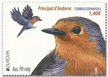 n° 469 - Timbre ANDORRE ESPAGNOL Poste (EUROPA)