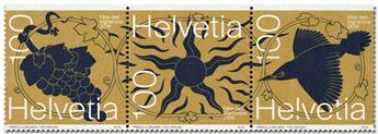 n° 2526/2528 - Timbre SUISSE Poste