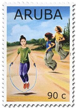 n° 1059/1062 - Timbre ARUBA Poste