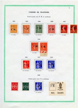 n°1/12* - Timbre FRANCE Franchise Militaire