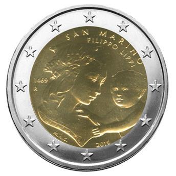 BU : 2 EURO COMMEMORATIVE 2019 : SAINT-MARIN (550 ans de la mort de Filippo Lippi)