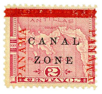 n°11a* - Timbre PANAMA CANAL ZONE Poste